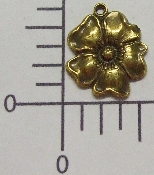 (Package Of 12) Dogwood Charm (Brass Ox)