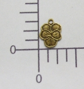 12 pc Small Pansy Charm (Brass Ox)