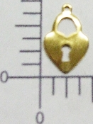 (Package Of 12) Thin Lock Charm (Antique Gold)