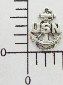 12 Pc US Navy Charm Matte Silver Ox