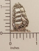 (Package Of 12) Tall Ship (Matte Silver Ox)