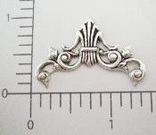 (Package Of 12) Scrolling Curved Filigree (Matte Silver Ox)