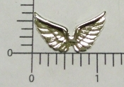 (Package of 12) Sm. Double Angel Wing (Matte Silver Ox)