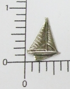 12 Pc Small Sailboat NR Matte Silver Ox