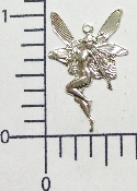 "(Package Of 12) 1"" Fairy Facing L. Charm (Matte Silver Ox)"
