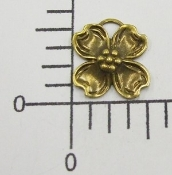 (Package of 12) Sm. Dogwood Charm (Brass Ox)