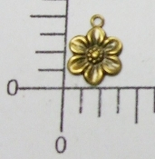 (Package of 12) Small Flower Charm (Brass Ox)