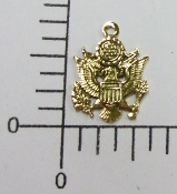 (Package Of 12) US Army Charm (Antique Gold)