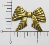 (Package of 12) Pleated Bow NR (Brass Ox)