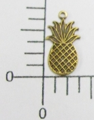 (Package Of 12) Small Pineapple Charm (Brass Ox)