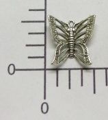 (Package Of 12) Filigree Butterfly Charm (Matte Silver)
