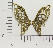 "(Package Of 12) 1-1/2"" Filigree Butterfly NR (Brass Ox)"