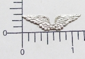 (Package of 12) Small Feather Angel Bird WIngs (Matte Silver