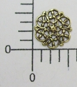"(Package Of 12) 1/2"" Round Filigree (Brass Oxidized)"