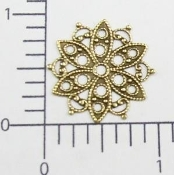 Round Filigree - Brass Ox (pkg of 12)