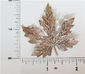 12 Pc Maple Leaf Large Brass Finding, Matte Silver Ox