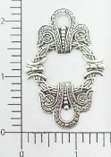 21214 - 12 Pc Victorian Frame Ornament Matte Silver Ox