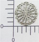 Round Filigree - Silver Ox (pkg of 12)