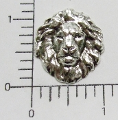 (Package of 12) Medium Lion Head (Matte Silver Ox)