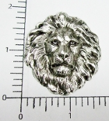Large Lion Head - Matte Silver Ox (pkg of 12)