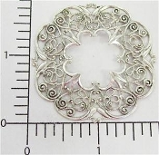 Victorian Round Filigree, Silver Ox (pkg of 12)