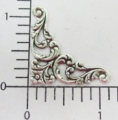 23644 - 12 Pc Victorian Corner Jewelry Finding Silver Ox