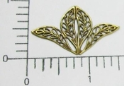 Victorian Filigree Jewelry Finding, Brass Oxidized (pkg of 12)