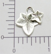 12 Pc Victorian Ivy Leaves Jewelry Finding Matte Silver Ox