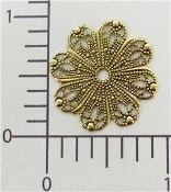 "1"" Round Filigree Jewelry Finding Brass Ox (pkg of 12)"