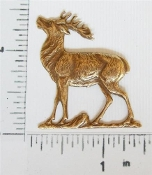 Lg. Standing Deer (Buck) Brass Ox (pkg of 12)