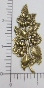Victorian Floral Spray Jewelry Finding Brass Ox (pkg 12)