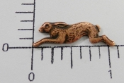 Copper Oxidized Running Rabbit Brass Jewelry Finding (12)