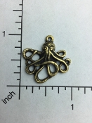 Small Octopus W/Ring Jewelry Pewter/Casting Brass Ox (pkg 12)