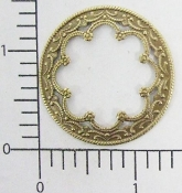 2 Pc. Ornate Victorian Circle Frame Jewelry Finding Brass Ox