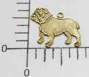 Bulldog Charm w/Ring Brass Ox (pkg of 12)