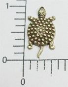 12 Pc Turtle Jewelry Finding w/Hole Brass Oxidized