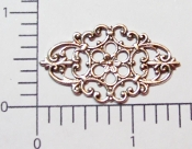 Victorian Filigree Jewelry Finding Silver Oxidized (pkg of 12)