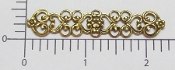 Bar Filigree Jewelry Finding Brass Ox (pkg of 12)