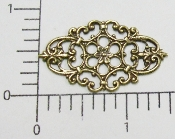 Victorian Filigree Jewelry Finding Brass Oxidized (pkg of 12)