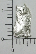 1 Pc Victorian Sitting Cat Jewelry Finding Matte Silve Oxidized
