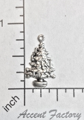 5 Pc Christmas Tree Charm w/Loop Silver Ox - LIMITED QTY's