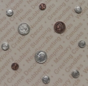 Silver/Copper Plated Asst. Coin Findings / Blister Card