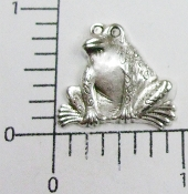 12 Pc Frog Jewelry Finding Stamping Matte Silver Ox