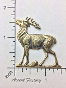 1 Pc Large Standing Deer Buck Jewelry Finding Brass Ox