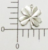 12 Pc 4-Leaf Clover Charm Jewelry Finding Silver Ox