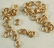 1 oz Jump Rings 4mm Oval Brass / Jewelry Finding