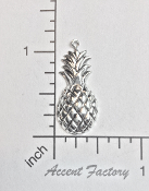 3 Pc Victorian Pineapple Jewelry Finding Charm Silver Oxidized