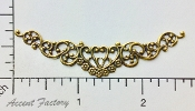 13223 - Victorian Swag Filigree Jewelry Finding Brass Ox