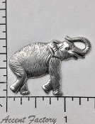 44764 - 12 Pc Large Elephant Jewelry Finding Matte Silver Ox