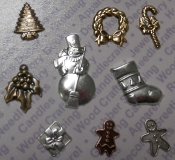 92329 - Christmas Jewelry Findings/Blister Card Gold/Brass/Silv